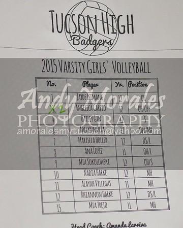 2015 volleyball Tucson Sahuaro
